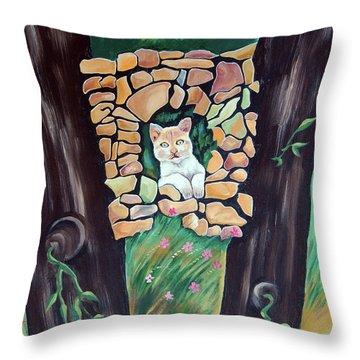 Natural Home Throw Pillow