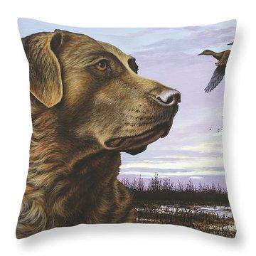 Natural Instinct - Chessie Throw Pillow