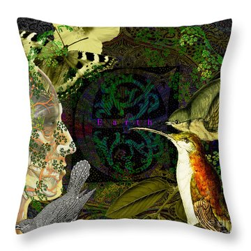 Natural Man Throw Pillow by Joseph Mosley