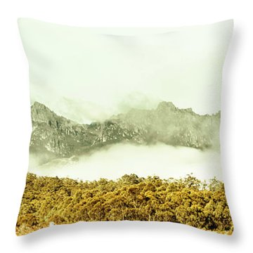 Natural Mountain Beauty Throw Pillow