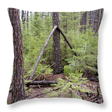 Throw Pillow featuring the photograph Natural Peace In The Woods by Ben Upham III