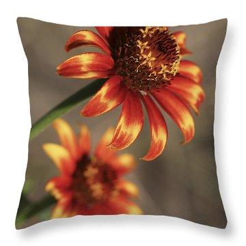 Natural Posing Beauty Throw Pillow by Deborah Benoit