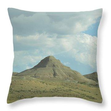 Natural Pyramid Throw Pillow