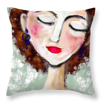 Natural Redhead Throw Pillow by Elaine Lanoue