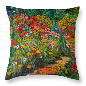 Natural Rhythm Throw Pillow by Kendall Kessler