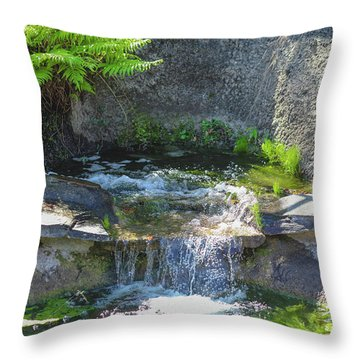 Natural Spa Zone Throw Pillow