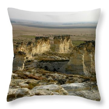 Natural Stonehenge Throw Pillow
