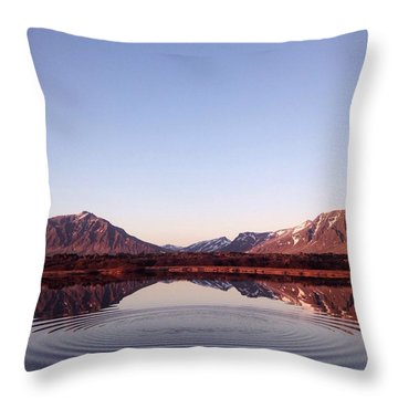 Natural Symmetry Throw Pillow by Happy Home Artistry