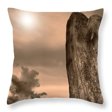 Natural Tower Throw Pillow by Beto Machado
