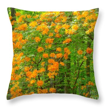 Natural Wild Azaleas  Throw Pillow