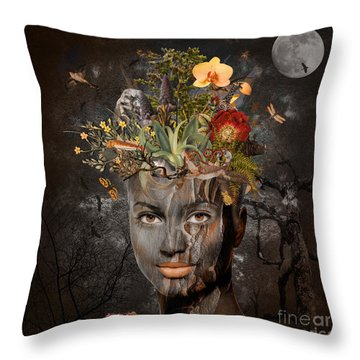 Naturalist Throw Pillow by Nola Lee Kelsey
