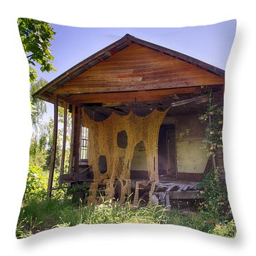 Nature And Art Throw Pillow by Patricia Schaefer