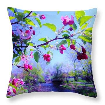 Nature Awakening Throw Pillow