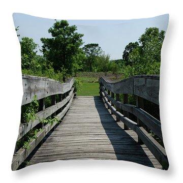 Nature Bridge Throw Pillow