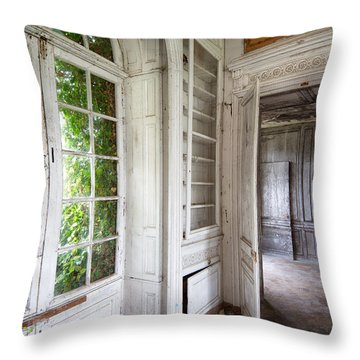 Nature Closes The Window - Urban Decay Throw Pillow by Dirk Ercken