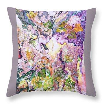 Nature Fairies Throw Pillow