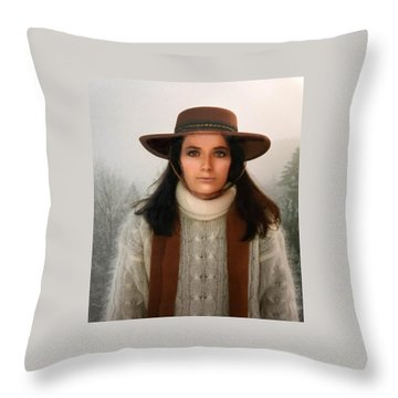 Throw Pillow featuring the photograph Nature Harmony Self Portrait  by Colette V Hera Guggenheim