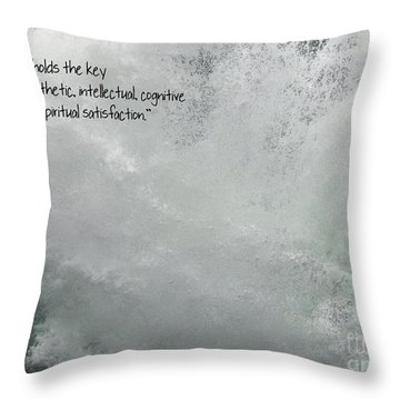 Throw Pillow featuring the photograph Nature Holds The Key by Peggy Hughes