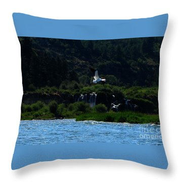 Nature In Flight Throw Pillow