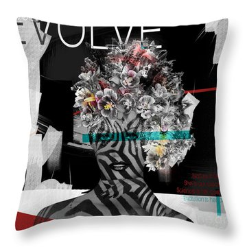 Throw Pillow featuring the digital art Nature Is God by Nola Lee Kelsey