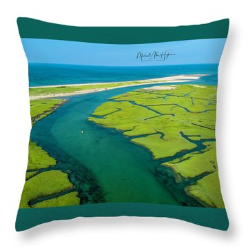 Nature Kayaking Throw Pillow