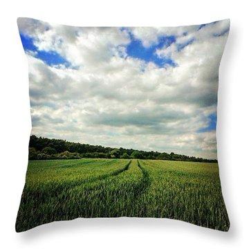 #nature #landscape #sky #sun #summer Throw Pillow by Vicki Field