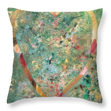 Throw Pillow featuring the painting Nature Lover by Diana Bursztein