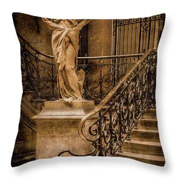 Paris, France - Nature Throw Pillow