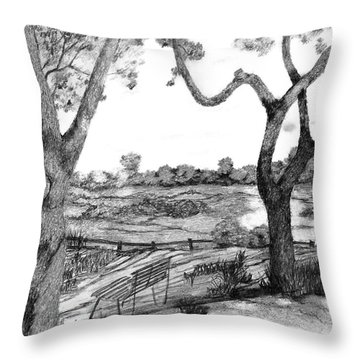 Nature Sketch Throw Pillow by John Stuart Webbstock