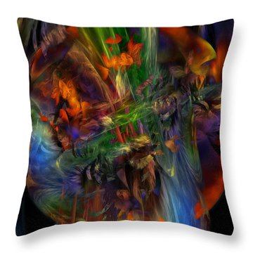 Nature Spilling Over Throw Pillow by Julie Grace