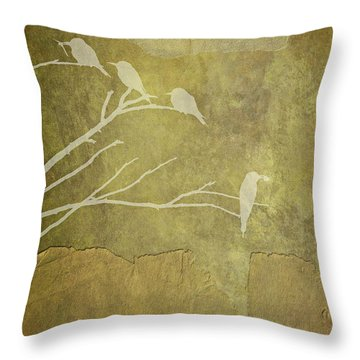 Nature Study In Gold  Throw Pillow