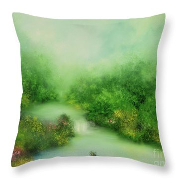 Nature Symphony Throw Pillow by Hannibal Mane