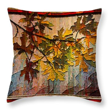 Throw Pillow featuring the photograph Nature Tapestry 1997 by Padre Art