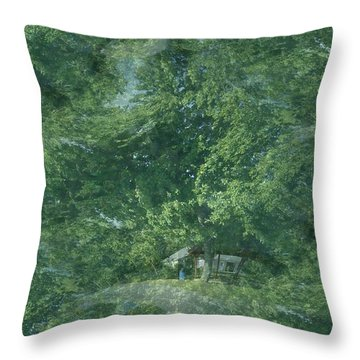 Throw Pillow featuring the photograph Nature Trees Fractal by Skyler Tipton