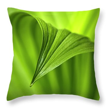 Nature Unfurls Throw Pillow by Christina Rollo