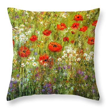 Nature Walk Throw Pillow by Valerie Travers