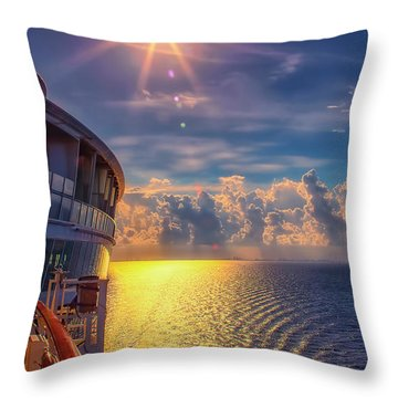 Natures Beauty At Sea Throw Pillow
