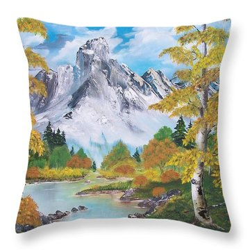 Throw Pillow featuring the painting Nature's Beauty by Sharon Duguay