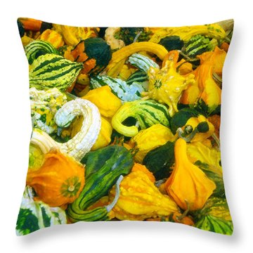Natures Bounty Throw Pillow by David Lee Thompson