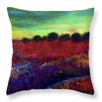 Natures Bouquet Throw Pillow by Dick Bourgault