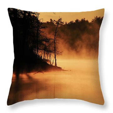 Nature's Breath Throw Pillow