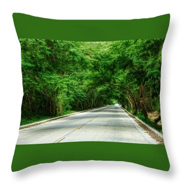 Nature's Canopy Throw Pillow by Cameron Wood