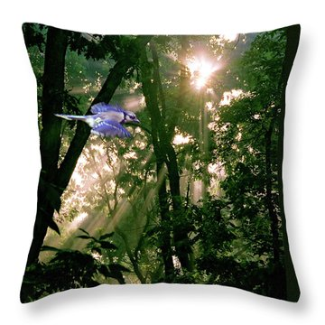 Throw Pillow featuring the photograph Nature's Cathedral by Marie Hicks