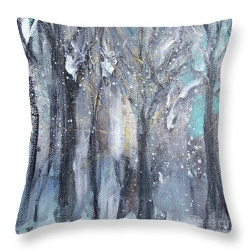 Throw Pillow featuring the painting Nature's Cathedral by Robin Maria Pedrero