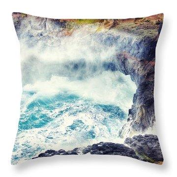 Natures Cauldron Throw Pillow by Blair Stuart