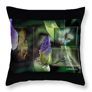 Natures Collage Throw Pillow