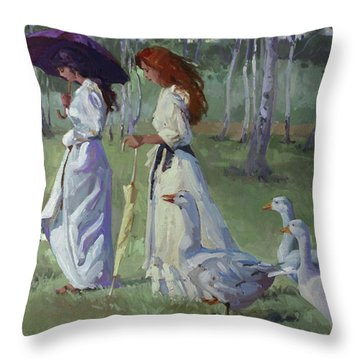 Nature's Compliments Throw Pillow