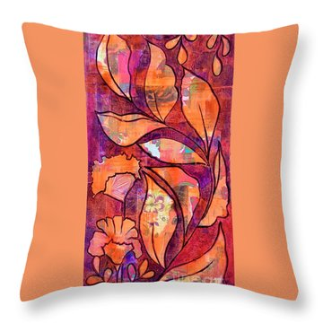 Throw Pillow featuring the mixed media Nature's Dance by Julie Hoyle