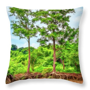 Nature's Electricity Throw Pillow