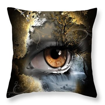 Natures Eye Throw Pillow